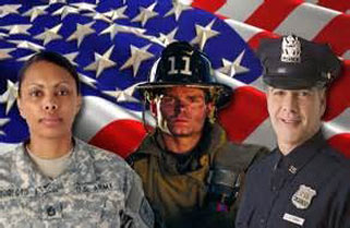 We support our local service members, police, fire and EMT